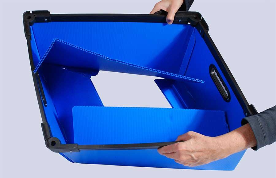 caja plegable de corrugado plastico para logistica